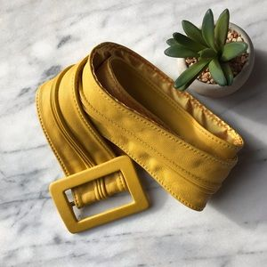 Cynthia Rowley leather belt yellow